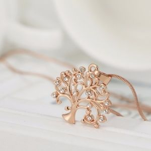 Jewelry - 18K Rose Gold Plated Tree of Life Necklace